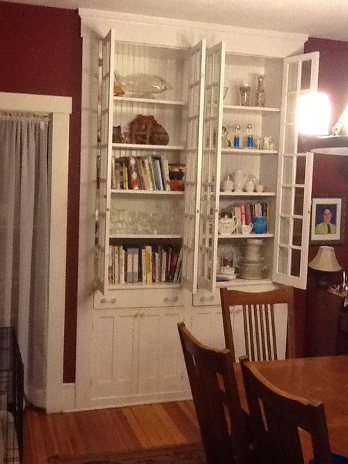 What to do with beautiful built-in china cabinet in dining room?