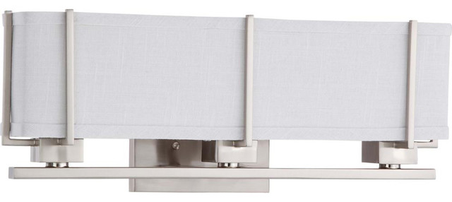 Nuvo Lighting 60-4504 Logan 3-Light Sconce with Slate Gray Fabric Shade transitional-bathroom ...