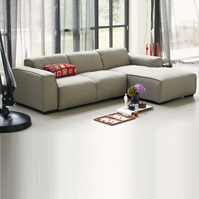 tallinn sofa 2 5 sitzer mit longchair rechts bauhaus look sofas von. Black Bedroom Furniture Sets. Home Design Ideas