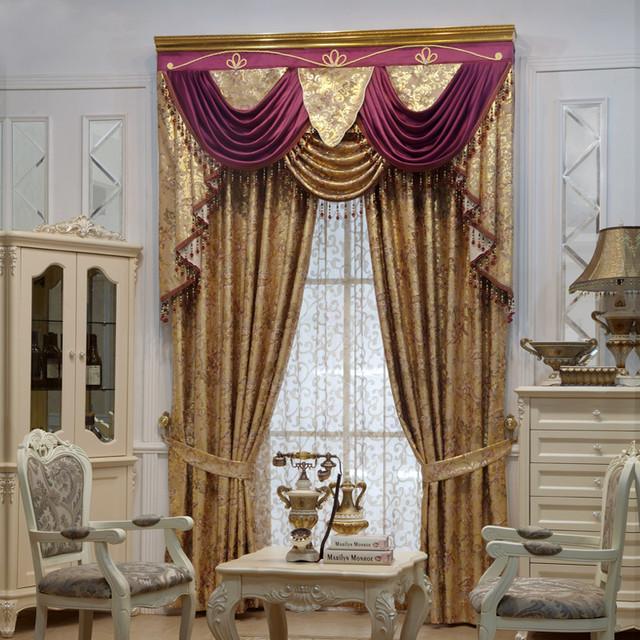 Customized Curtain in Purple midcentury-curtains