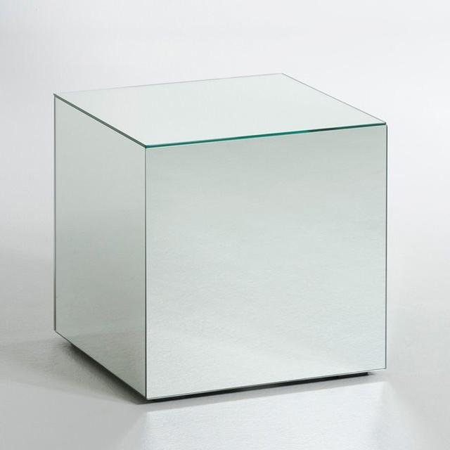 Table basse miroir lumir contemporain table de chevet et table de nuit - Table de chevet ampm ...