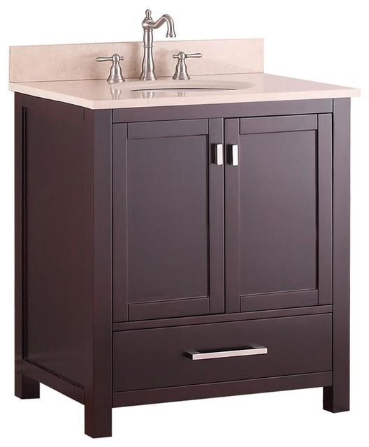 31 in single sink vanity in espresso finish contemporary