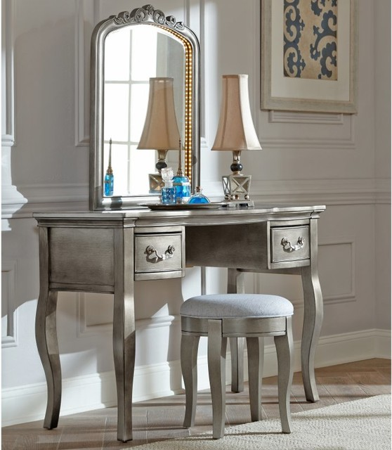 NE Kids Kensington Vanity/Desk  20540NDV  Contemporary  Bedroom &amp Makeup Vanities  by Hayneedle - Bedroom Makeup Vanity