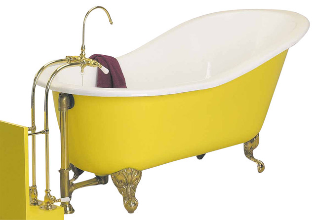 clawfoot tub porcelain slipper only no feet traditional