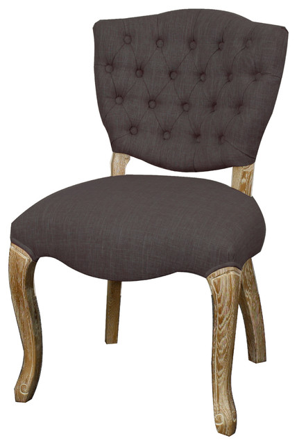 Adrienne fabric chair with natural wood legs traditional - Natural wood dining chairs ...