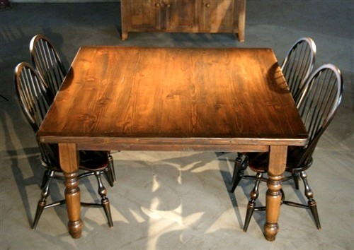 Very Rustic Square Farmhouse Table Farmhouse Dining