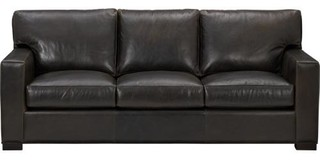Axis II Leather 3 Seat Queen Sleeper Sofa Contemporary Sofa Beds