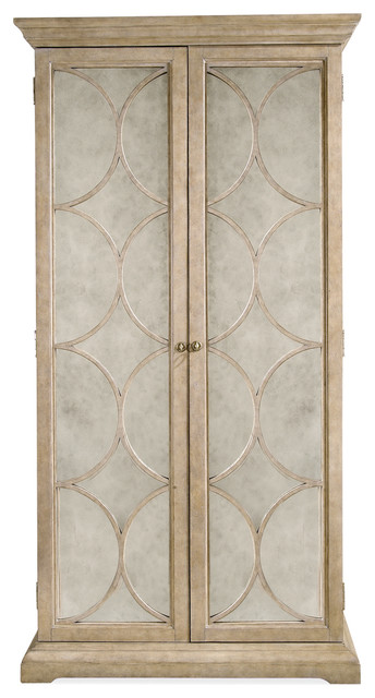 Olympus Hollywood Regency Limestone Mirrored Wardrobe Cabinet - Rustic - Accent Chests And ...