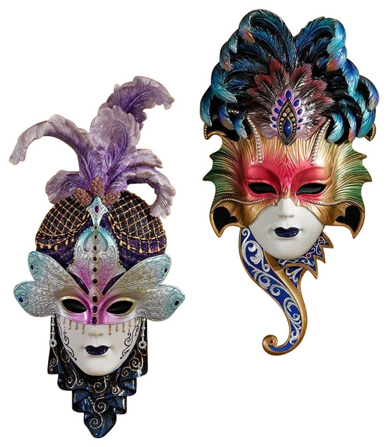 Wall Decoration With Masks : Venetian masquerades masks traditional wall sculptures