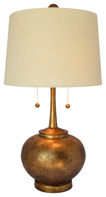 Hammered table lamp antique gold transitional table for Hammered gold floor lamp