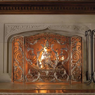 Avignon Estate Size Fireplace Screen Traditional