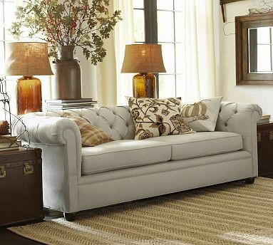 Chesterfield Upholstered Grand Sofa Polyester Wrap