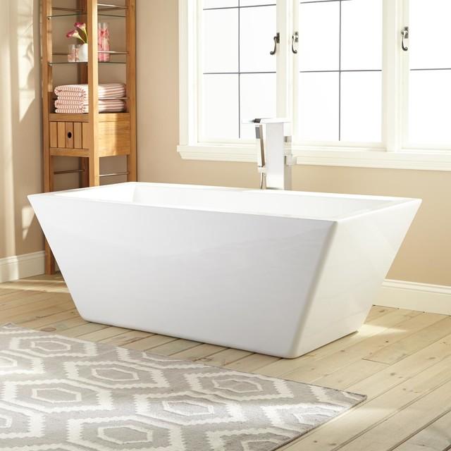 Patsy Acrylic Freestanding Tub Modern Bathtubs By
