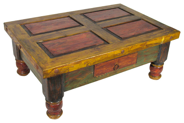 how to paint a wooden coffee table 2