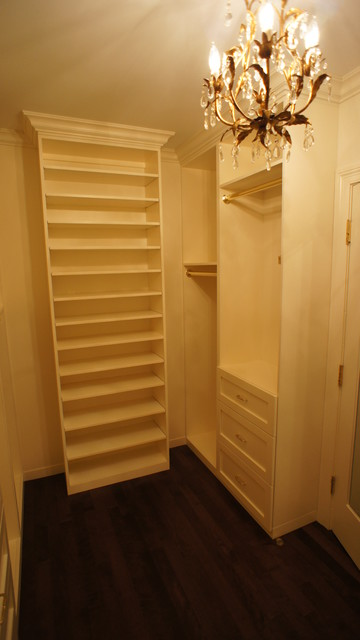 Closet systems, real wood, quality hardware, custom finishes