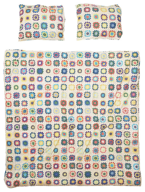 Snurk Granny Queen Size Quilt Cover Set Contemporary