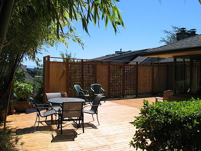 Bamboo Fencing Bamboo Fence Contemporary Home