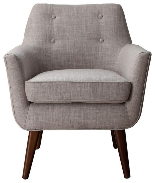 TOV Furniture Clyde Beige Linen Chair TOV A38 B