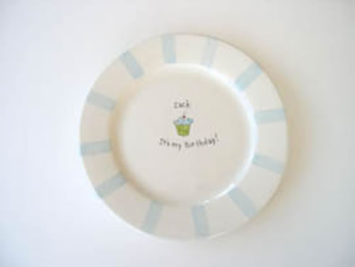 Personalized ceramic birthday plate moderne assiette for Ceramic cuisine moderne