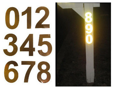 Bright Ideas Ra1 Reflective Address Numbers 0 9 3