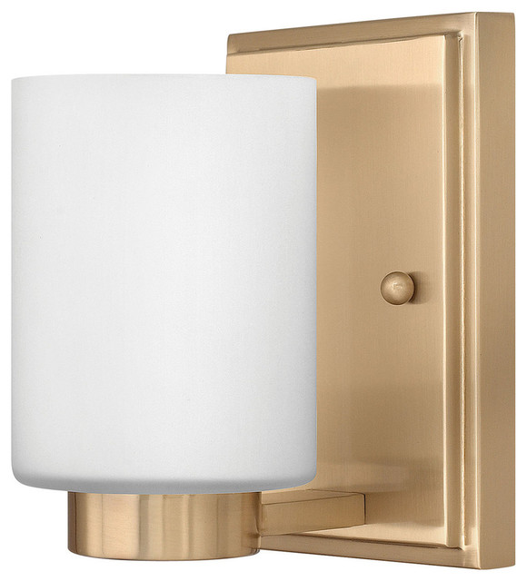 Hinkley Lighting Single Light Bathroom Vanity Fixture - Contemporary - Bathroom Vanity Lighting ...