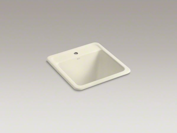 ... top-mount utility sink with single faucet hole contemporary-utility