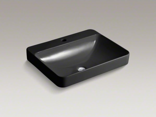 Kohler Vox R Rectangle Vessel Above Counter Bathroom Sink With Single Faucet Ho Contemporary