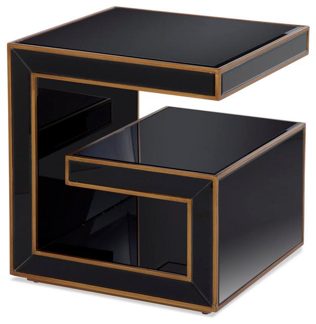 Bassett Mirror Hollywood Glam Rectangle End Table