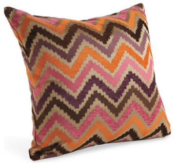Chevron Melon Pillow - Room & Board - Eclectic - Decorative Pillows - by Room & Board