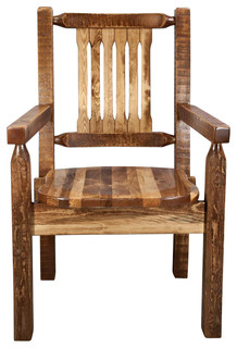 18 Wooden Captains Chair Rustic Dining Chairs By