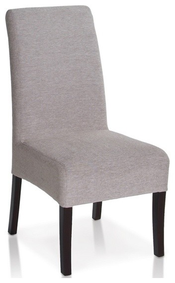 Elegant Parsons Fabric Dining Chair in Mist Modern  : modern dining chairs from houzz.co.uk size 352 x 569 jpeg 30kB