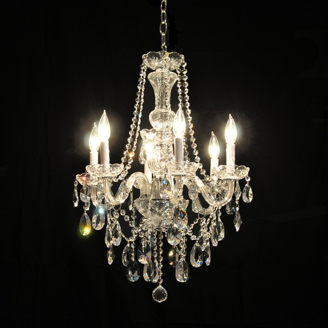 Victorian glass arm swarovski crystal chandelier in chrome or gold traditional chandeliers - Traditional crystal chandeliers ...