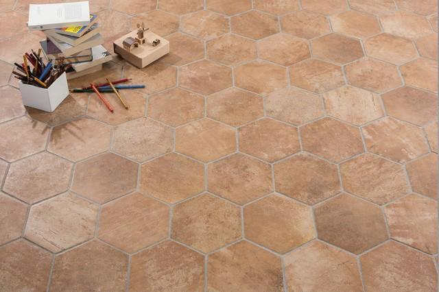 Piastrelle in ceramica esagonali   manoir cotto 18,2x21   classico ...