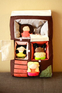 Plush Dollhouse Pillow, Brooklyn Brownstone by The Honey Pie Tree ...
