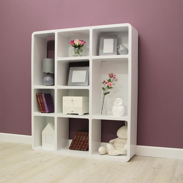 Odora Modern Abstract Bookcase Contemporary