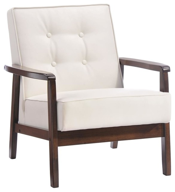 Wood arm chair midcentury armchairs and accent chairs