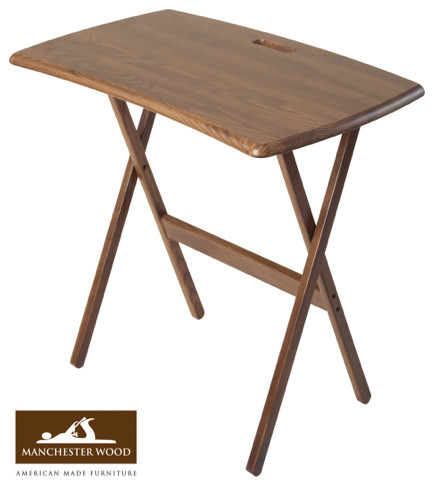 Portable Folding Work And Laptop Desk By Manchester Wood Contemporary Side Tables And End