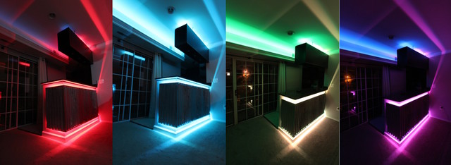 inspired led colored leds home bar by inspired led