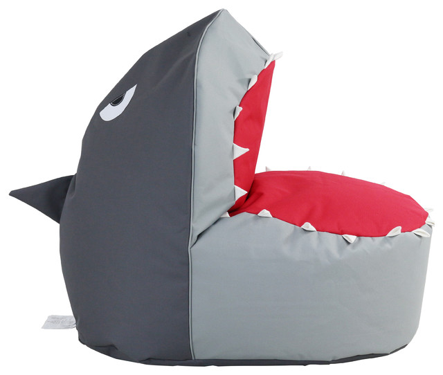 Beanbag Shark Contemporary Kids Chairs By Hrh Designs