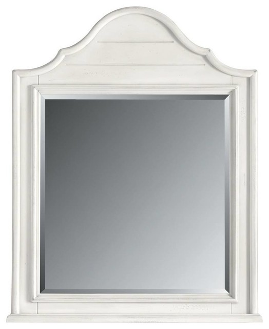 Coastal Living Retreat Arch Top Mirror Saltbox White