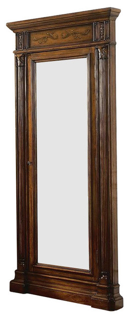 hooker furniture seven seas floor mirror with jewelry armoire storage floor mirrors by. Black Bedroom Furniture Sets. Home Design Ideas