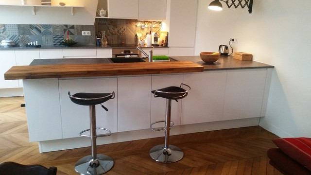 Cuisine am ricaine et son lot central contemporary kitchen other metro by cuisishop for Cuisine americaine