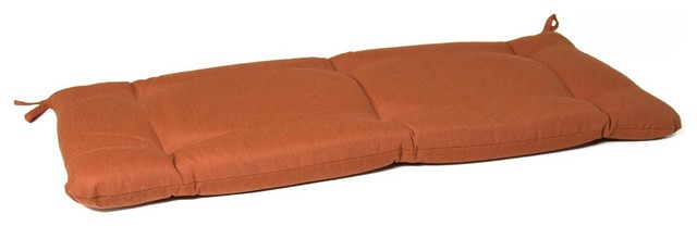 Small Replacement Tufted Bench Cushion Canvas Paprika Modern Seat Cushions By Ultimate Patio