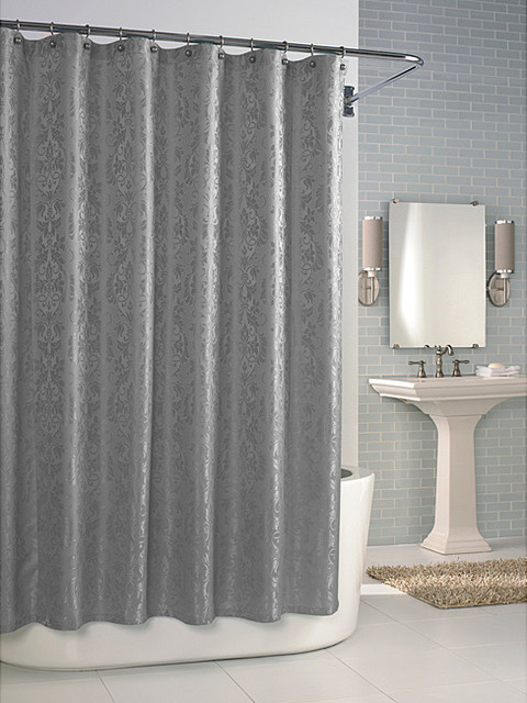 Shower Curtains Gray Gray Chevron Shower Curtain Ruffled Shower
