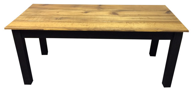 Barn Wood Black Farm Table 36 Inches Country Dining Tables By Ez