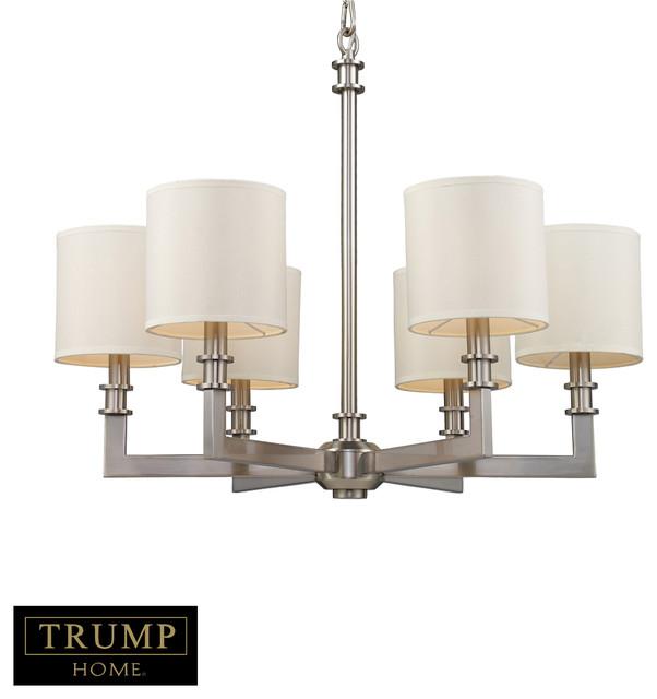 Trump Home Seven Springs 6-Light Chandelier In Satin