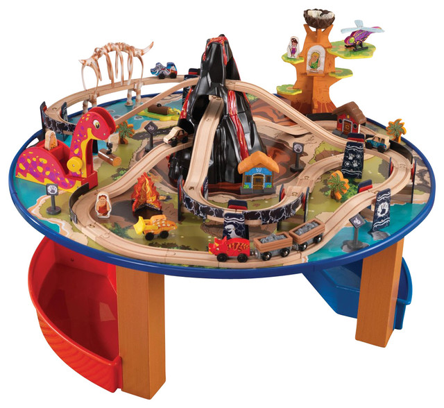 Train Table Set For Kids  Train Set Table With Trundle - Train set table
