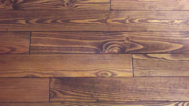 1 X 6 X 8 Southern Yellow Pine Unfinished Pic Shows Stain