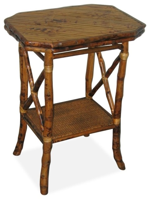 Octagon Side Table ~ Elongated octagon side table tropical tables and