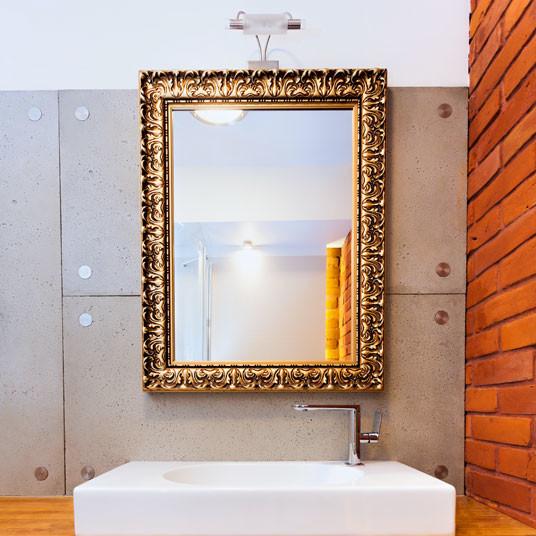 custom gold frame bathroom mirror contemporary